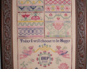 Choose to be Happy Sampler Chart