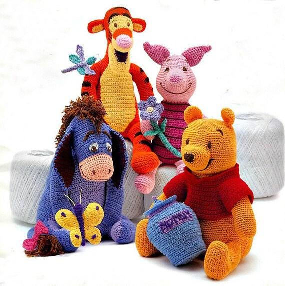 Winnie The Pooh Tigger Piglet Eeyore Crochet Patterns Etsy