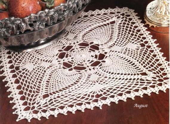 Square Pineapple Crochet Doily Pattern Etsy