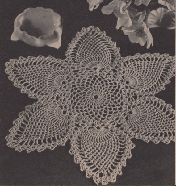 Pearls and Lace Beaded Doily Crochet Pattern Heirloom Table Toppers HOWB