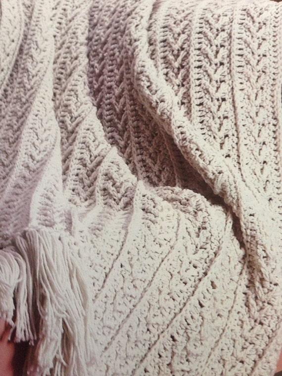 Fisherman's Crochet Blanket Pattern Winter Warm Aran Throw