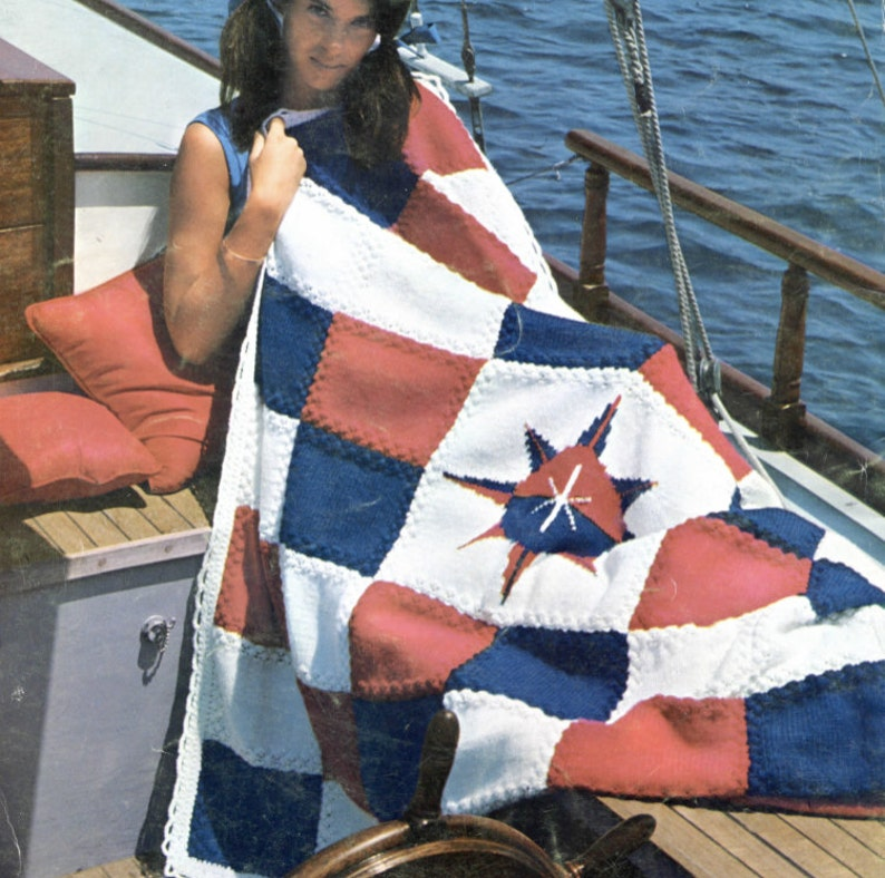 Nautical Sundial Knit Blanket Pattern   Etsy