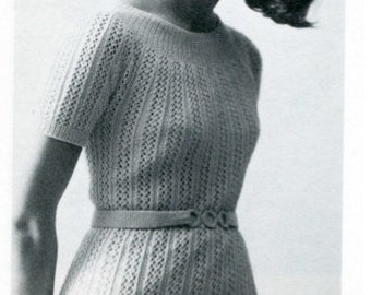 Charming Knit Dress Pattern 1970's