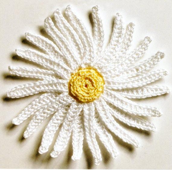 Fresh Flowers Crochet Patterns 4 Daisy Pansy Daffodil &   Etsy