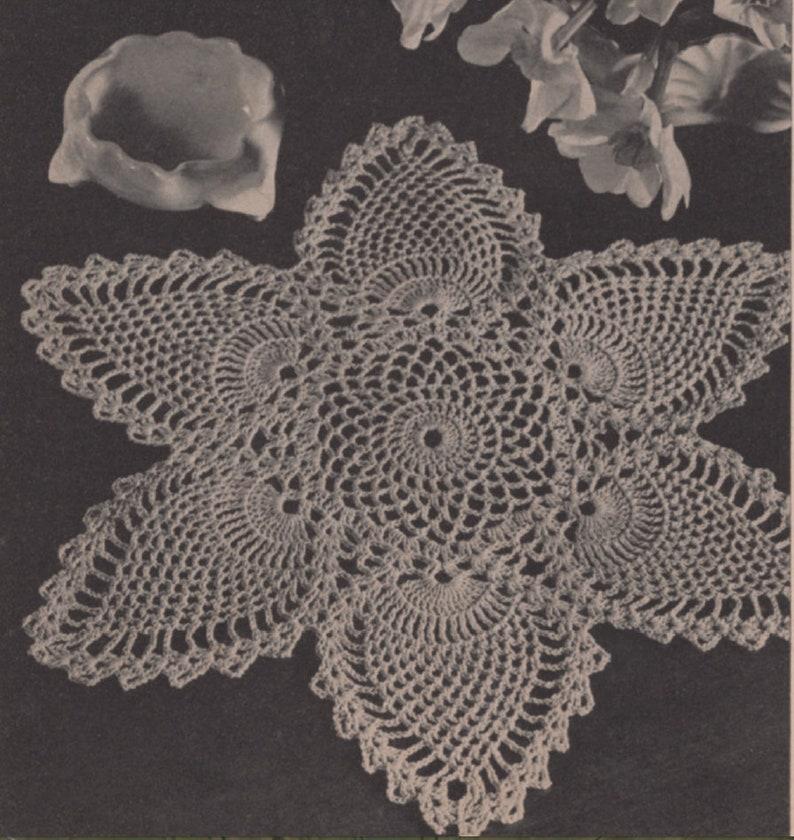 Crochet Pattern Vintage Pineapple Doily Pattern 1947 Etsy