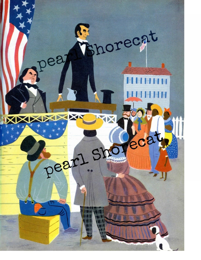 Digital Image Abe Lincoln Famous Campaign Song