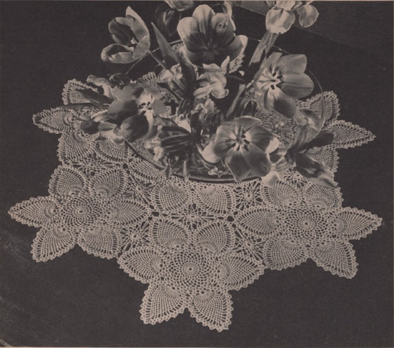 Vintage Crochet Pineapple Doily Centerpiece Pattern