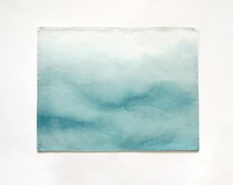 Set of Two (2) Watercolor Ombre Placemats