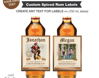 Personalised /'Captain/' Jamaica Spiced Rum label new style Birthday Gift