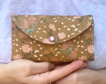 Mustard Brown and Blush Essential Oil Roller Wallet, Mustard Essential Oil Roller Case