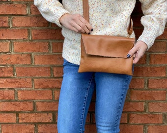 Brown Faux Leather Essential Oil Clutch, Brown Faux Leather Essential Oil Wristlet