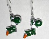 Yoshi Super Mario Super Cute Earrings (FREE SHIPPING)