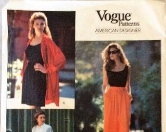 1990 Vogue 2452 Misses DKNY Palazzo Pants, Shorts & Capris Size 6-10