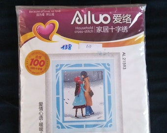 Ailuo Because of Love, So Love Cross Stitch Kit