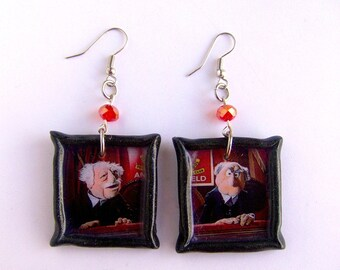 Statler and Waldorf Muppet Show Grandfathers polymer clay Earrings