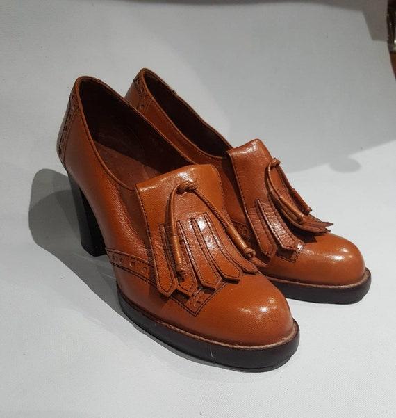 Bromley 1970 Et Femmes Marron Des Années Russell Chaussures Vintage KJc3TF1l