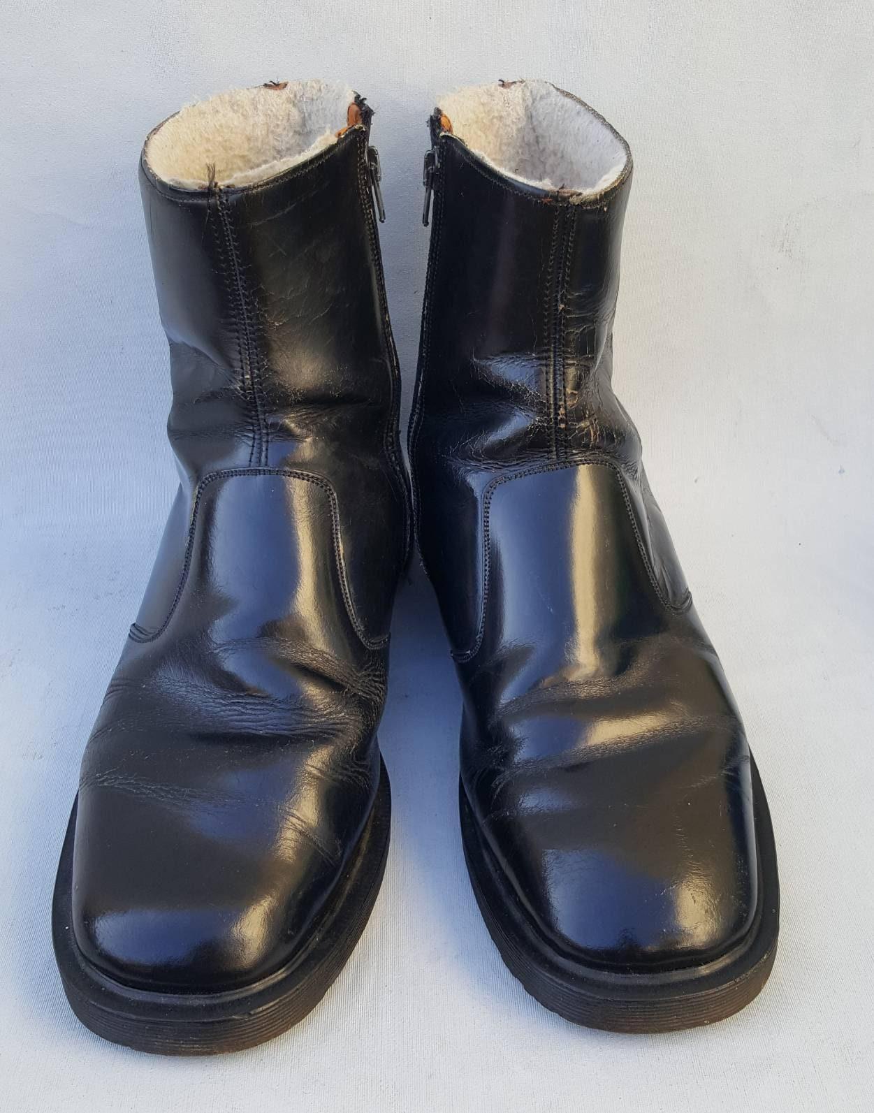67615191604 Mens Vintage 60/70's Dr Martens Black Zip Up Ankle Boots. UK Size 9.