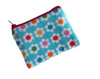 coin purse, money purse, change purse, zippered coin purse, girls wallet,  zippered pouch, apple