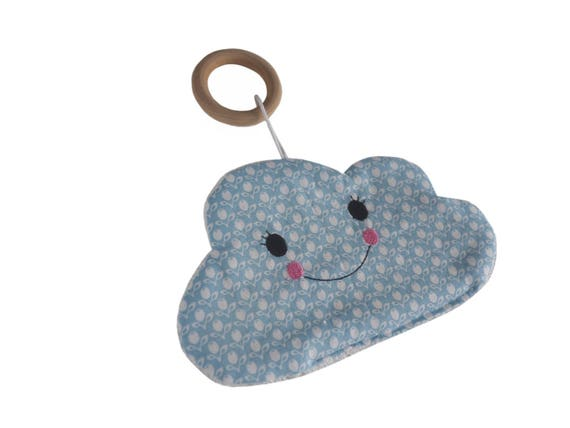 stine with heart Cuddly cloth gripping ring cloth