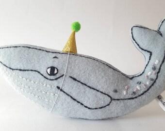 Blue Whale cushion