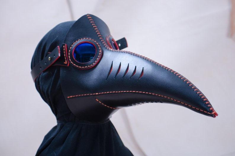 Steampunk Mask Cosplay Plague Doctor Mask Face Mask Gas Mask Halloween Steampunk Masquerade Leather Burning Man