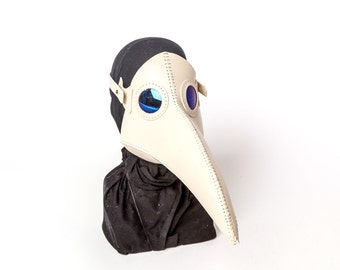 Plague Doctor Mask White Steampunk