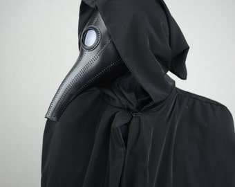 Plague Doctor Mask, Leather Mask, Steampunk. Halloween Mask, Raven, Cosplay, Costume,