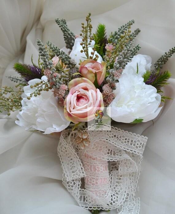 Fleur Artificielle Mariage Bouquet De Mariee Vintage De Etsy