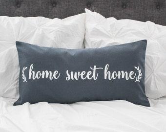 Home Sweet Home pillow cover, lumbar pillow cover 12x24, burlap pillow cover, fabric pillow cover * free Shipping*
