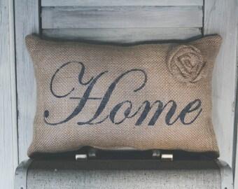 Home Decorative Pillow Decor Pillow Simple Pillow burlap pillow fabric pillow 15x10 accent pillow farmhouse decorcottage decor