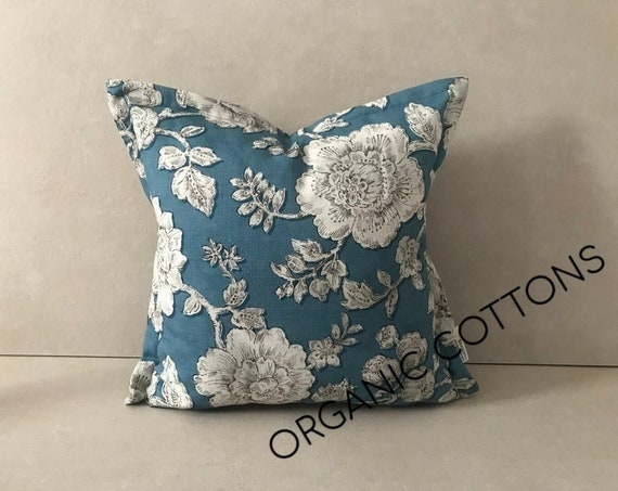 Organic Cotton Pillow Cover, Floral Cushion Cover