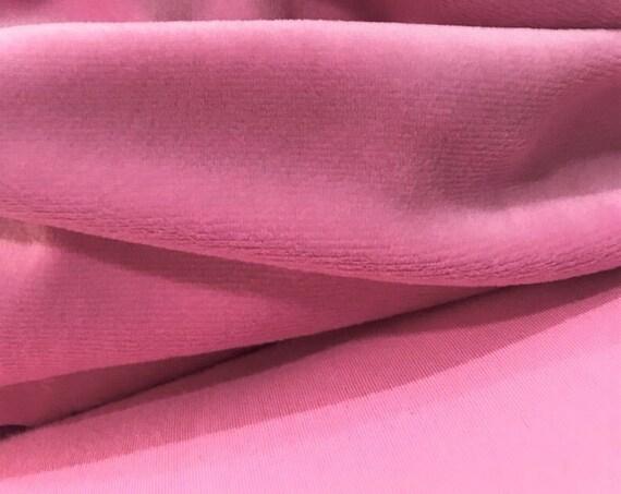 Candy Pink Velvet Fabric,  Pink Velvet