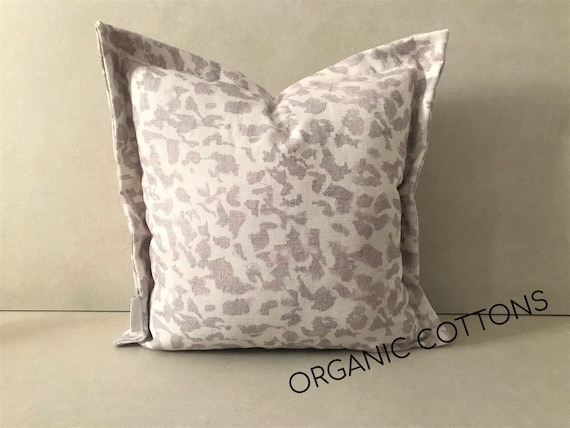 Organic Cotton Pillow Cover, Pink Animal Print Cushion Cover