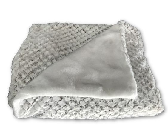 Faux Fur Throw In Off White With Camel Base And White Back, Large Throw For  Sofa Or Bed