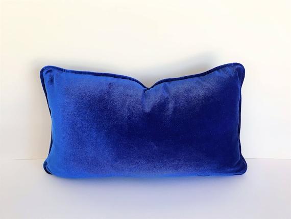 Royal Blue Velvet Pillow Cover, Cobalt Blue Cushion Cover