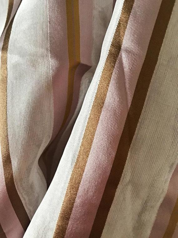 OFFER FABRICS! Pure Silk Organza Fabric, Striped Silk Organza