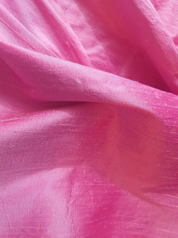 OFFER! HURRY! Candy Pink Silk Fabric, Sold By the Yard, Only Limited Availability