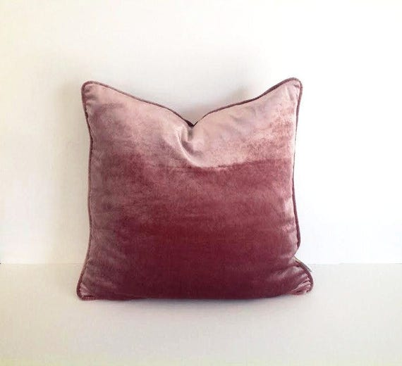 Dusty Rose Velvet Pillow Cover, Dusty Pink Cushion Cover