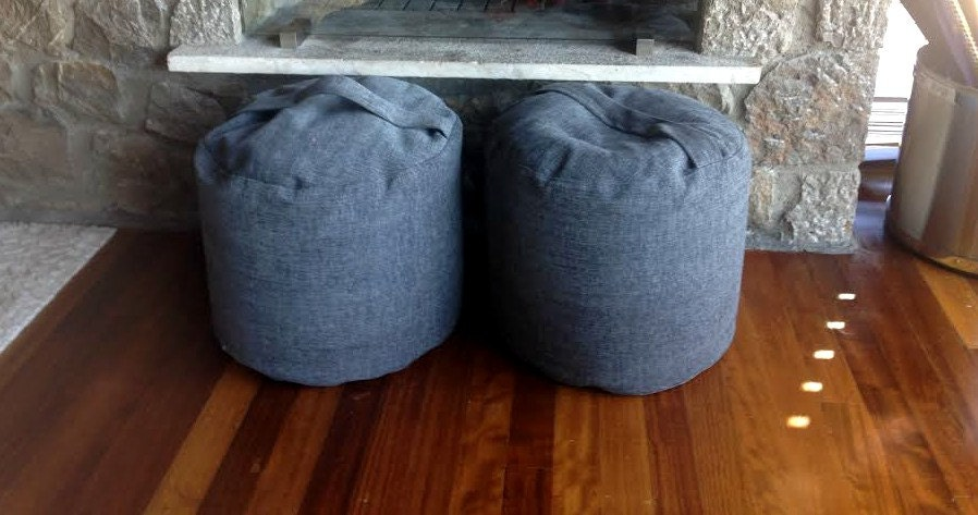 Swell Grey Round Pouf Grey Footrest Pouf Anthracite Grey Gmtry Best Dining Table And Chair Ideas Images Gmtryco