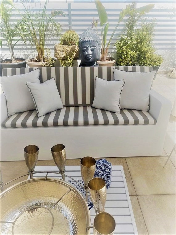 Outdoor Pillows in Plain Or Stripes, Variety of Colors Available