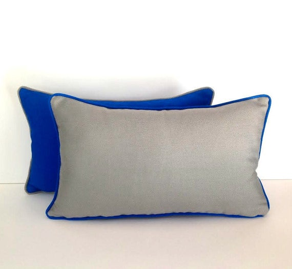 OFFER HURRY! 50% Discount, Outdoor Sunbrella Grey Pillow, UV Ray Resistant Pillow