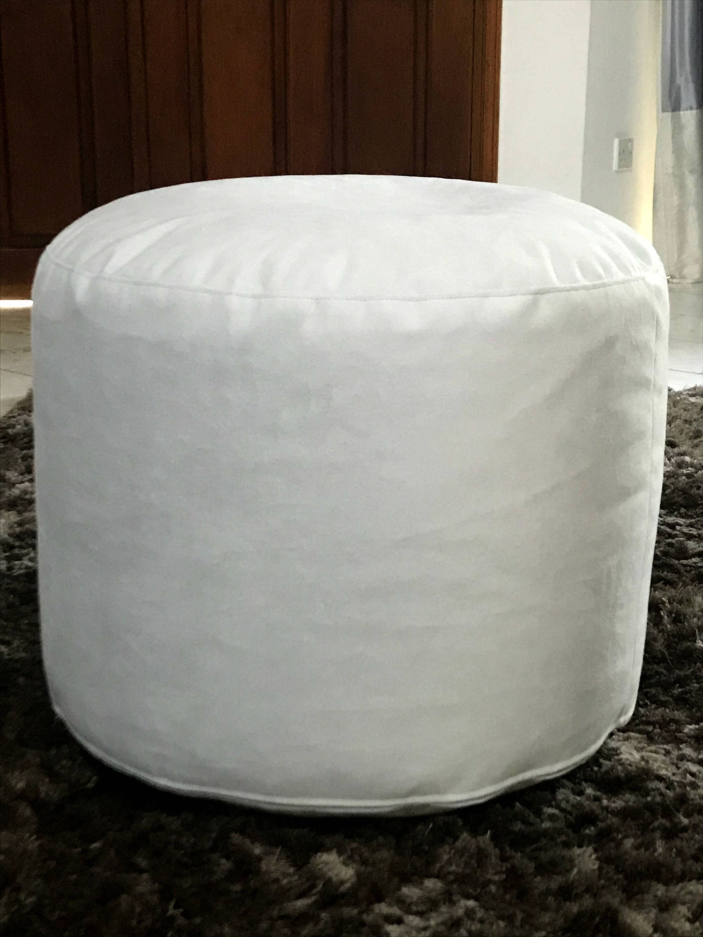 Peachy Ash Grey Velvet Round Pouf Pale Grey Velvet Pouf With Caraccident5 Cool Chair Designs And Ideas Caraccident5Info