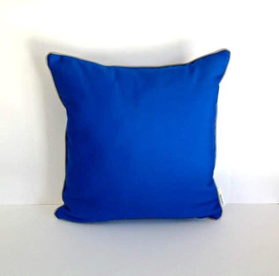 Sunbrella Outdoor Cobalt Pillow Royal Blue Outdoor Cushion Etsy