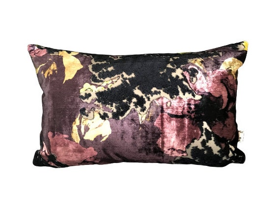 Floral Velvet Pillow Cover, Luxe Cushion Collection