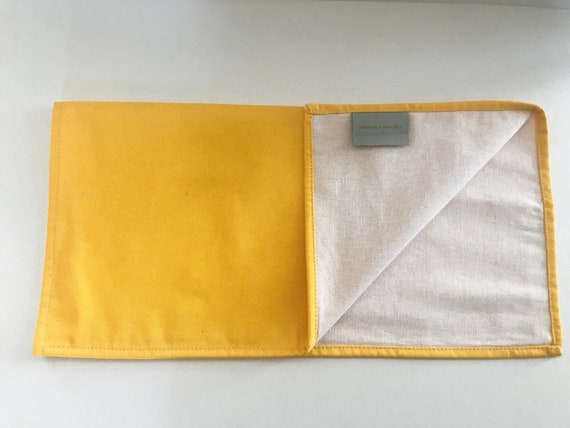 Set Place Mats in Linen and Cotton, Double Faced Place Mats, Square Place Mats