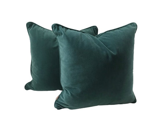 Teal Velvet Pillow Cover,  Luxe Petrol Cushion Collection