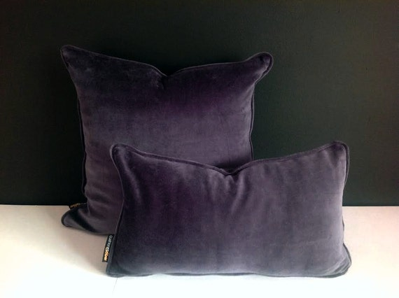 Grey Velvet Lumbar Throw Pillow Cover Grey Cushion Cover