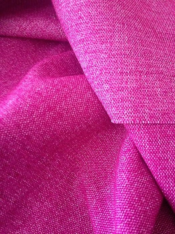 """Upholstery Pink Fabric, Width 57"""", Fuchsia Material Sold By the Yard, Pink Home Decor Fabric"""