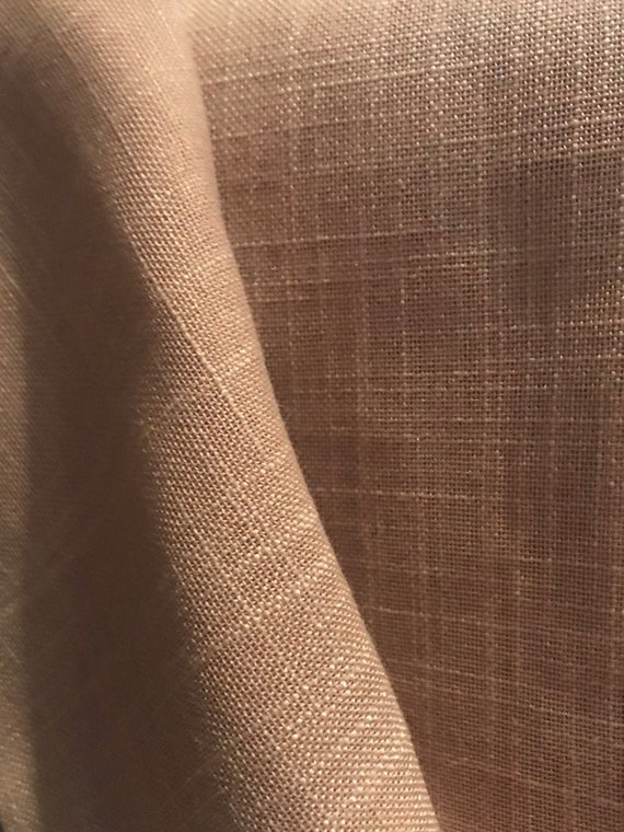 Camel Linen Blend Fabric For Curtains, Home Decor Fabric