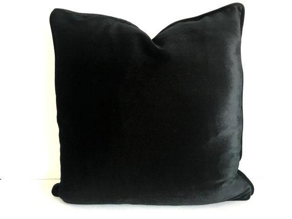 OFFER HURRY! DISCOUNT 50%, Black Velvet Pillow Cover